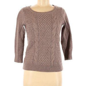 LOFT cocoa cable knit sweater